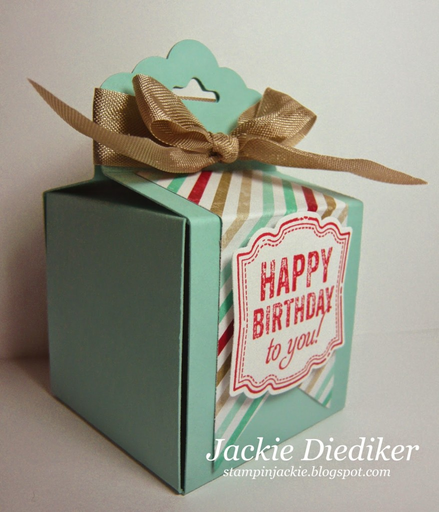 A Happy Birthday Gift Box! - Stampin' Jackie