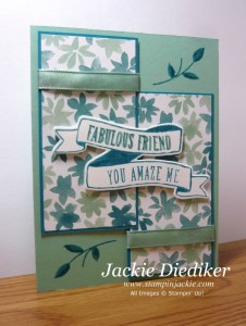 Fabulous Friend Banners for You Jackie Diediker Stampinup
