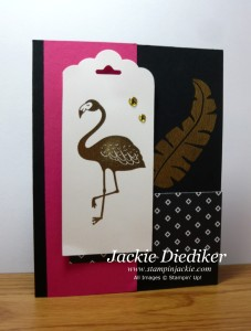 Pop of Pink Flamingo and Gold Jackie Diediker Stampinup