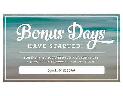 Bonus Days Begins Today – New Bundle to Come!