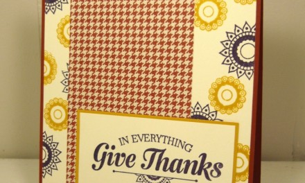 Pals Paper Arts Challenge #321 – Give Thanks!