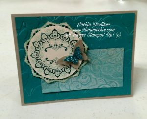 Make A Medallion Jackie Diediker Stampin' Up!