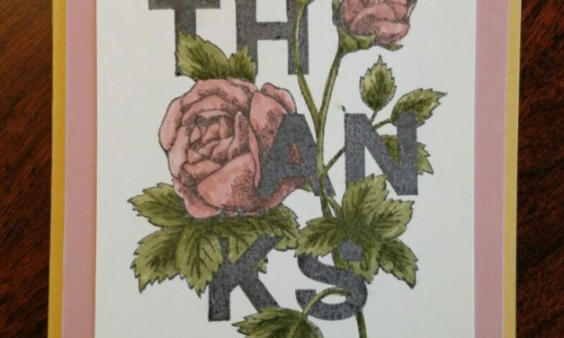 Floral 'Thanks' and TTTC004