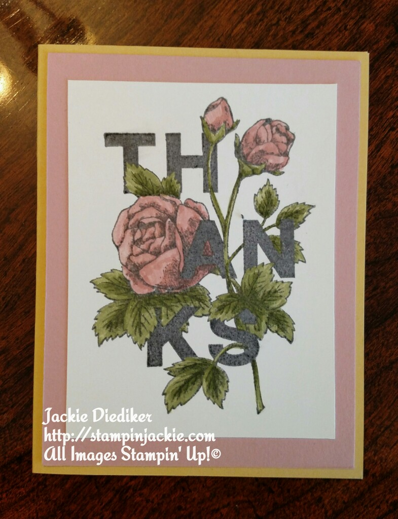 Floral Statements Jackie Diediker Stampin Up