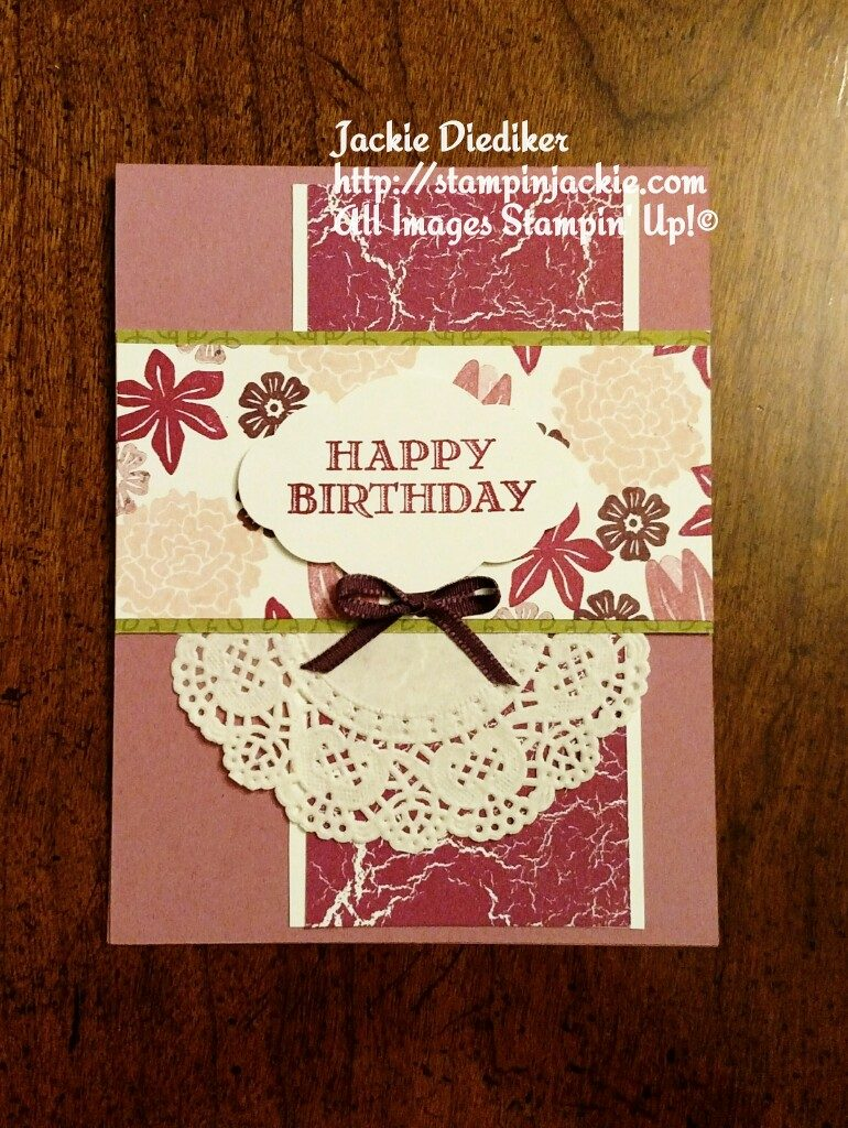 Beautiful Bouquet Birthday Jackie Diediker Stampin Up