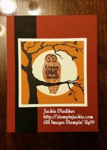 Happy Owl Ween Jackie Diediker Stampin Up