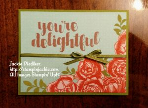 You're Delightful Jackie Diediker Stampin Up