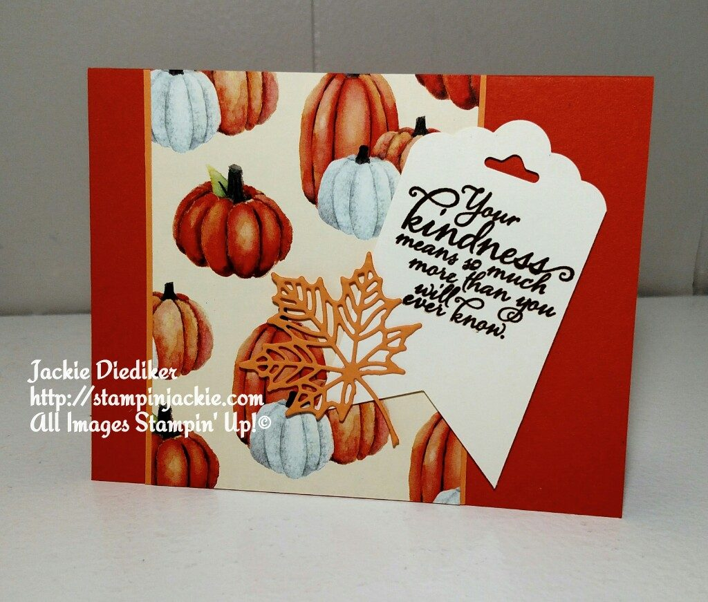 Painted Harvest Thanks Jackie Diediker Stampin Up